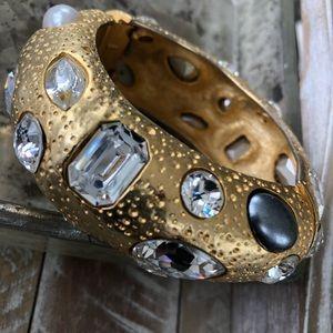 Golden & crystal chunky bracelet